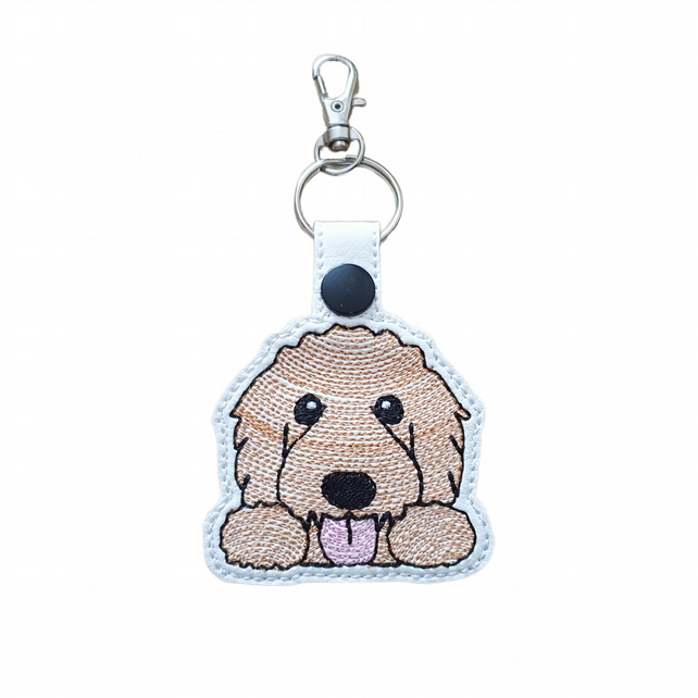 Cute Goldendoodle Keyring