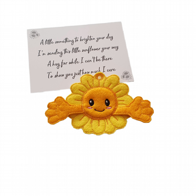Cute Sunflower Pocket Hug Keyring or Bag Charm