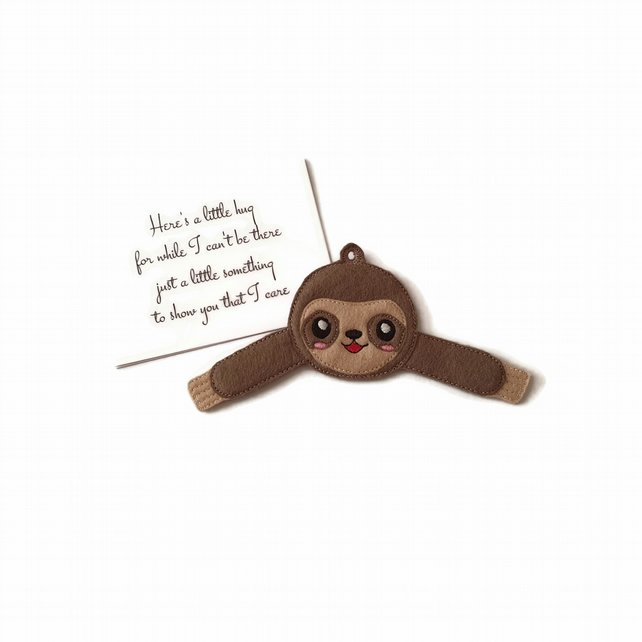 Cute Sloth Pocket Hug Keyring or Bag Charm