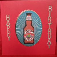 Homemade Beer Birthday Card