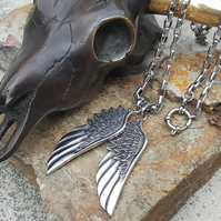 Wings Necklace Men and Women. Men Necklace. Gift for Him. Gift for Anniversary.