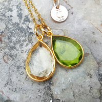 TEARS OF KALI PERIDOT AND CITRINE SET GOLD