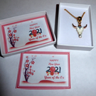 Chinese New Year 2021 Year of the OX Necklace in Gift box