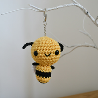Cute Bee Crochet Keyring Bag Accessory