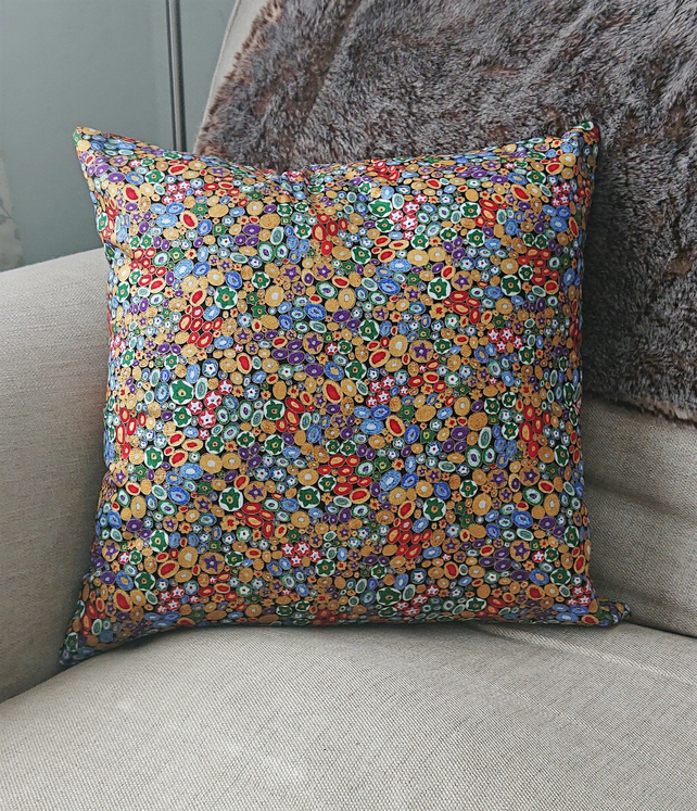 Cushion Cover with Optional Cushion Pad - Spotty Metallic Cushion Cover