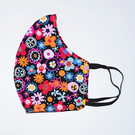 Face Mask - Black Floral Face Mask - Adult Face Mask - Reusable Face Mask