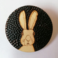 Rabbit Wooden Badge