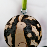 Hare Christmas Bauble