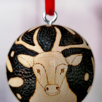 Stag Christmas Bauble