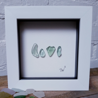Sea glass word 'Love'