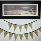 Christmas Bunting, Merry Christmas Bunting, Green and Cream