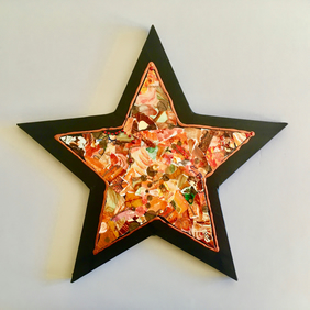 Bright Star - Original Collage Painting