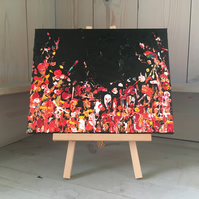 Flame Flowers - Original Acrylic Painting