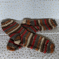 Traditionally hand knitted socks for adults