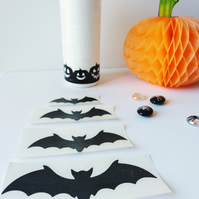 Halloween 1 piece Bat Sticker, You Can Choose The Width and the Colour