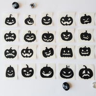 Halloween 5 pieces Pumpkin Stickers, 3-4cm Wide