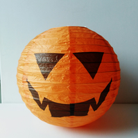 Halloween Orange Pumpkin Paper Lantern, Ball Decoration