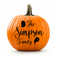 Personalised Family Halloween Pumpkin Decal, Stickers, Decoration