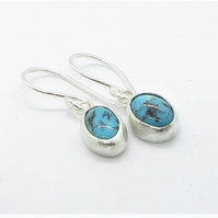 Turquoise Earrings - recycled sterling silver