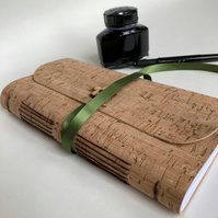 Slim wrap-around journal made from cork