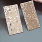 Sterling Silver Hammered Oblong Earrings