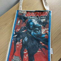 Batman tote bag with key clip