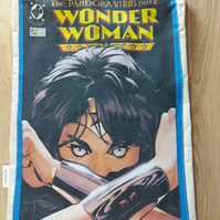 Wonder woman tote bag with key clip