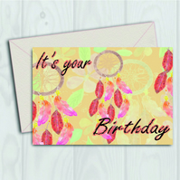 It's your birthday Dream catcher card