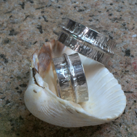 "Silver ""Long Wave"" Ring"