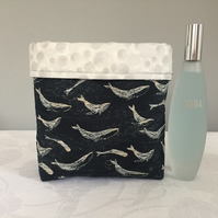 Three Whales Quilted Storage Pouch