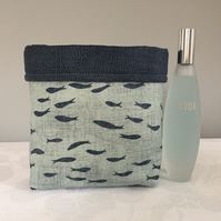 Shoals of Fish Quilted Storage Pouch