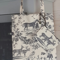 Tote Bag with Detachable Purse