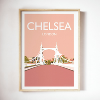 Chelsea Bridge, London Giclee Travel Print