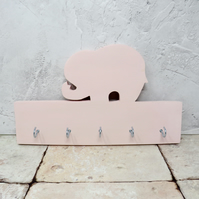 Pink elephant key rack