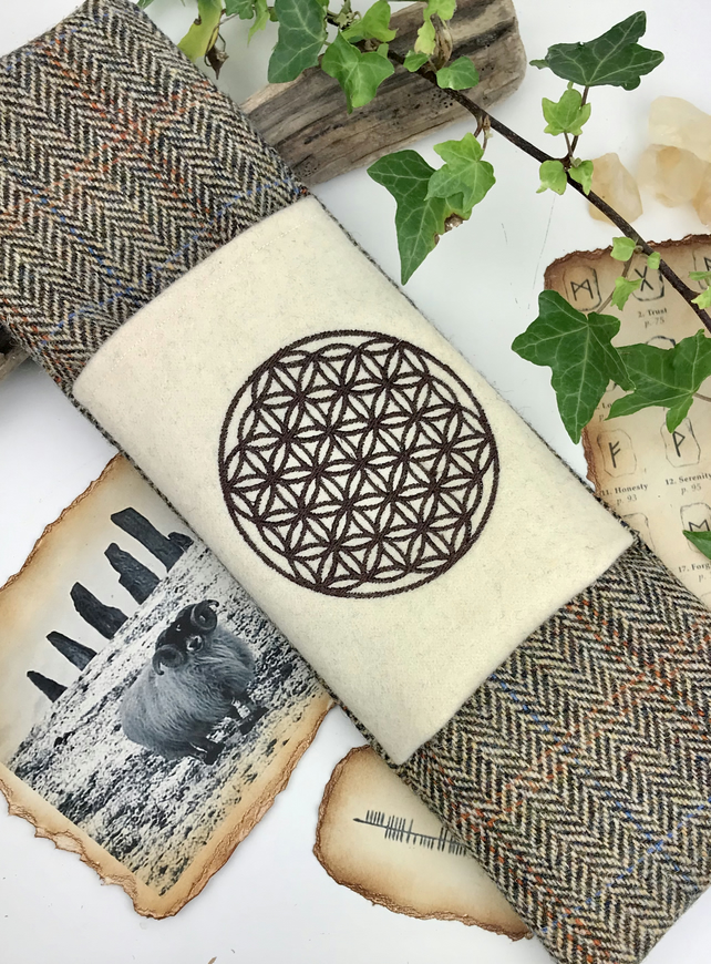 Pagan Circle of Life Harris Tweed Wand Bag