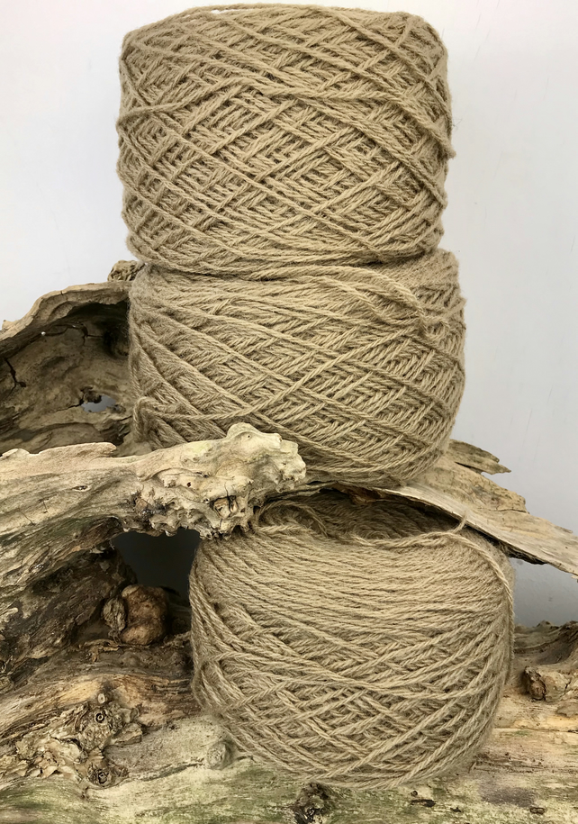 Rustic Wool Yarn 250g in Caramel