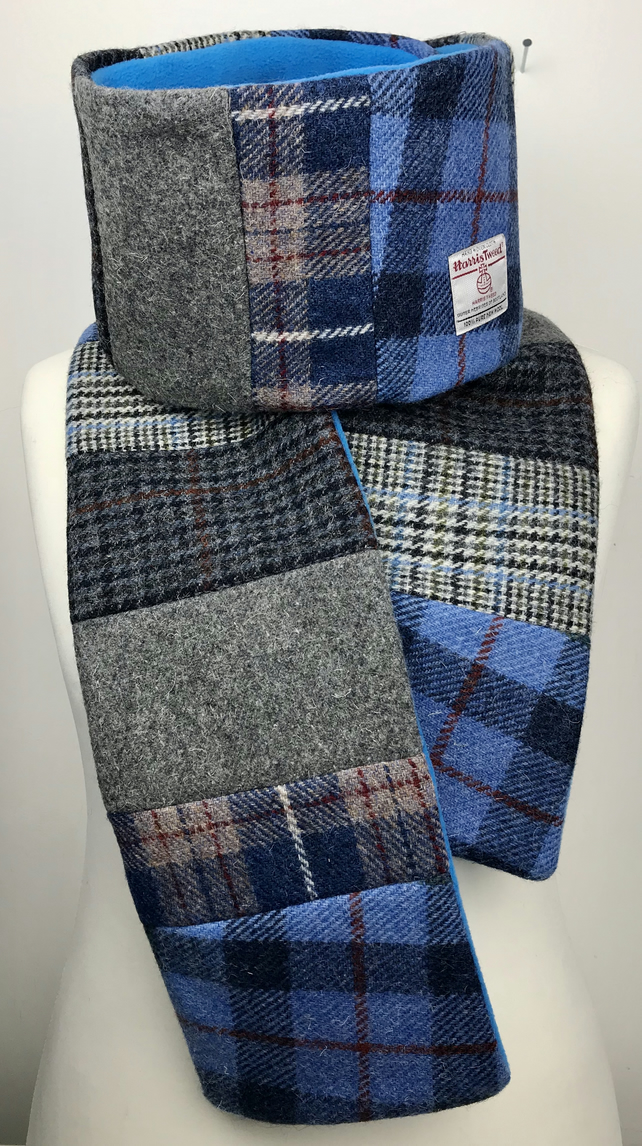 Harris Tweed Patchwork Super Long Wrap Scarf