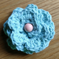 Medium Crochet Cotton Flower Brooch ( free shipping)