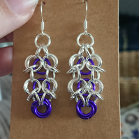 Chainmail dangle earrings