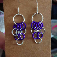 European 4 in 1 chainmail earrings