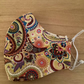 Nice Yellow Paisley pattern Cotton Face mask, Reusable face mask, face covering.