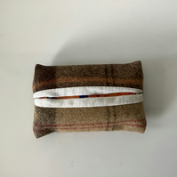 Tweed Pocket Tissue Cover ,Tissue Case , Gift for Her,