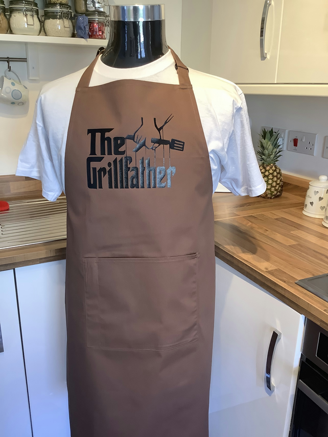 Attractive , Kitchen or BBQ Apron with The Grillfather