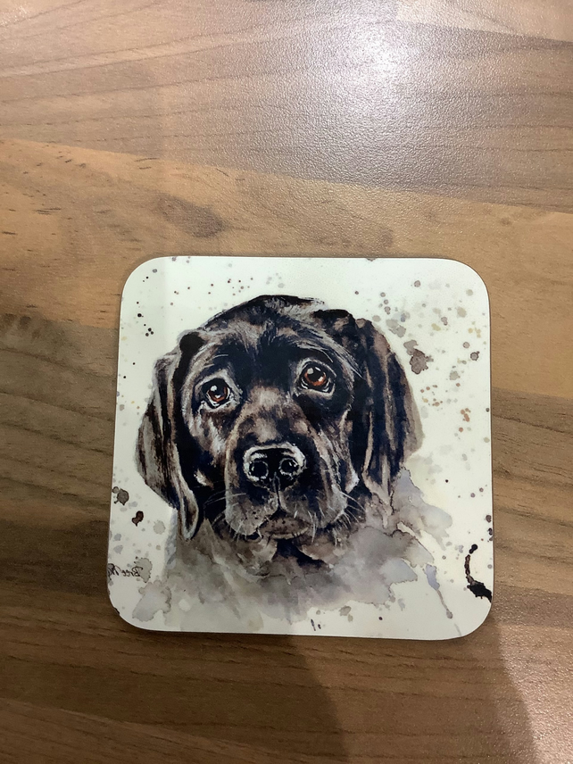Black Lab Coaster, Drinks mat