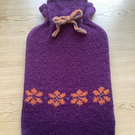 Knitted Fair Isle Hot Water Bottle Cover