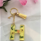 Handcrafted I Alphabet Letter Keyrings I  Assorted Colours I List 2