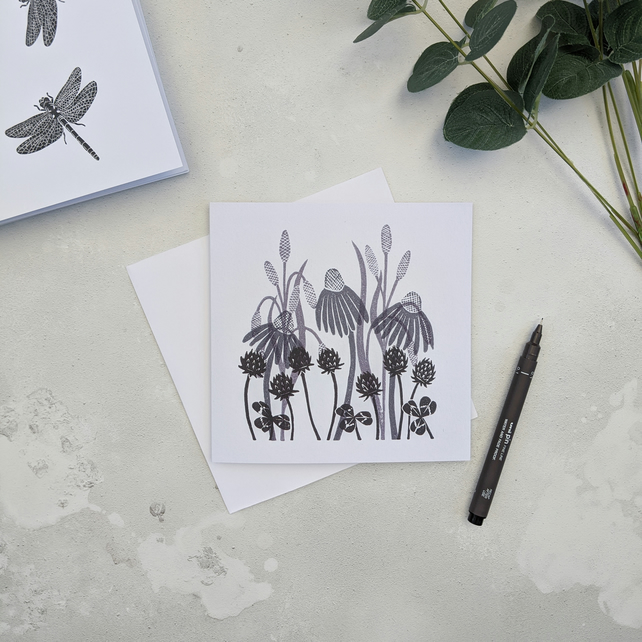 Meadow Flower Note Card