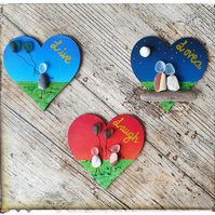 "Seaglass magnets ""LIVE, LAUGH, LOVE"""