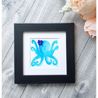 "Seaglass and watercolour octopus for nursery decor ""OPHELIA"""