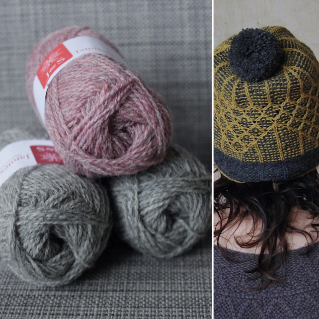 Soft-Hearted Hat Kit (Pink & Light Grey)